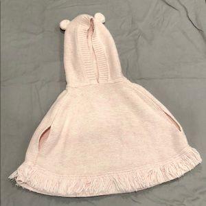 Gap girls pink knit cape 4T